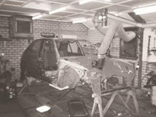 Oude werkplaats autoschade Shrurs Soerendonk, Leende en Maarheeze 1964